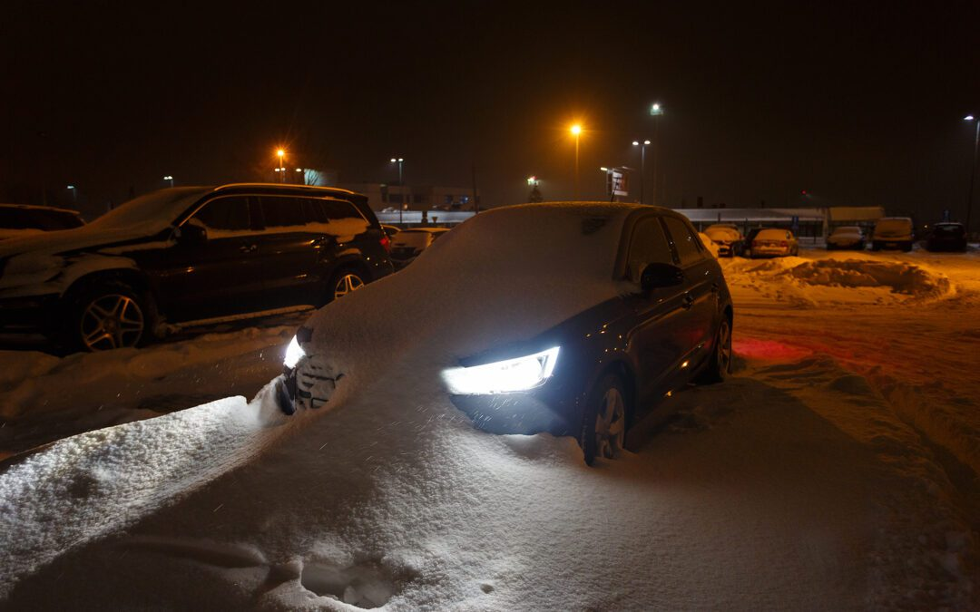 Snowbank vs Car Leads To Plastic Bumper Repair
